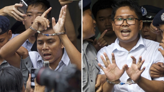 Int'l Outcry as Reuters Reporters Get 7 Years in Myanmar Prison