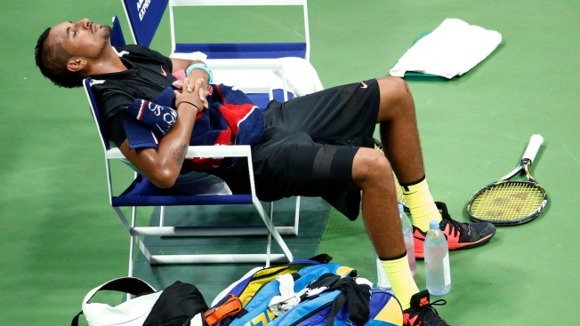 Tennis Bad Boy Nick Kyrgios Curses Smashes Racket Between Naps During U S Open Match