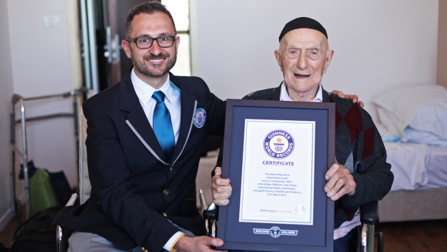 Guinness Announces 112-Year-Old Israel Holocaust Survivor as World's Oldest Man