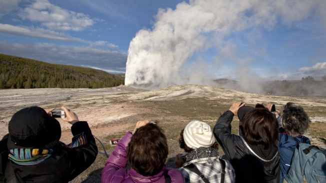 Nothing Says 'First Day of Winter' Like Old Faithful Blowing
