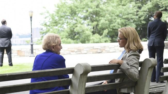 Former Secretary of State Albright Visits 'Madam Secretary'