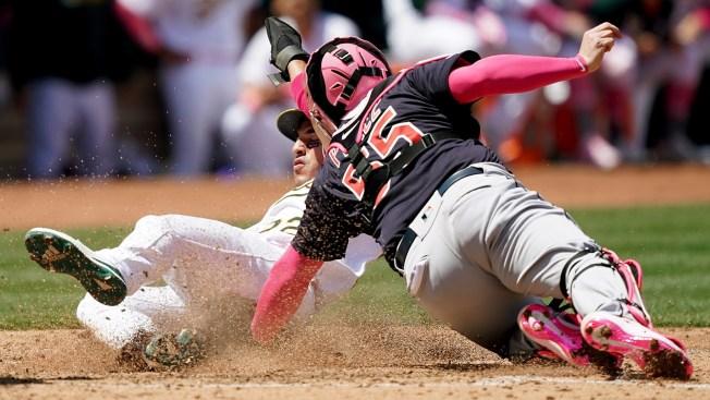 Perez's 3-Run Homer Helps Indians Beat Athletics 5-3