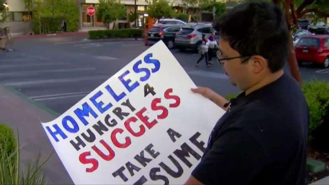 Photo Of Homeless Man In Silicon Valley Handing Out Resumes Goes