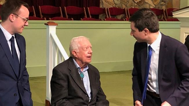 Buttigieg, Husband Attend Jimmy Carter's Sunday School Class