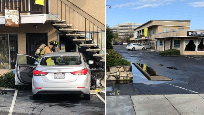 Car Crashes Into Music Store in Campbell, Triggers Gas Leak