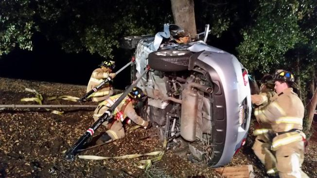 Two Suffer Minor Injuries After Car Crashes into Tree in Concord