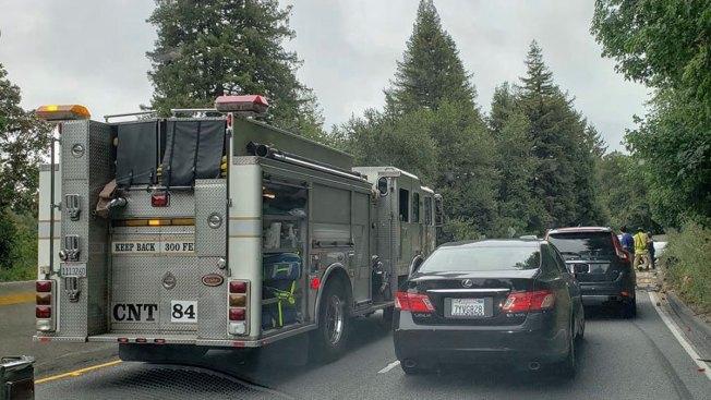 Accident Blocks Southbound Lanes of Highway 17 in Redwood Estates