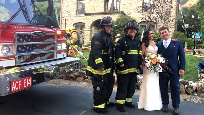 Alameda County Firefighters Save 'Bride, Groom and Cake' After Blaze Disrupts Wedding Reception at Elliston Vineyards