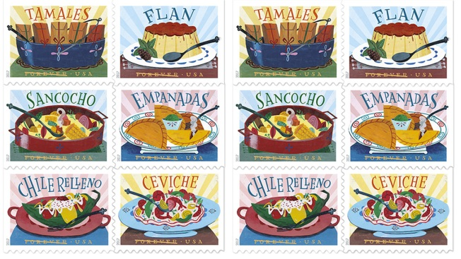 New Delicioso Postage Stamps Dedicated To Latino Cuisine Nbc Bay