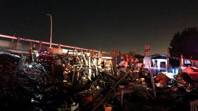 Oakland Encampment Fire Displaces Over 3 Dozens