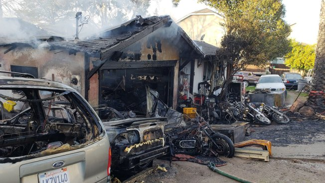 Fire Damages Home, Several Vehicles in Antioch