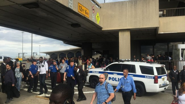 Newark Airport evacuating terminal