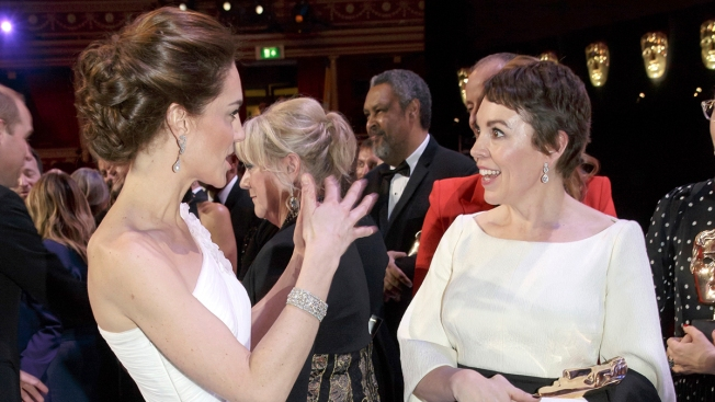 [NATL] Royal Family Photos: Catherine Meets 'Queen Anne' at BAFTAs
