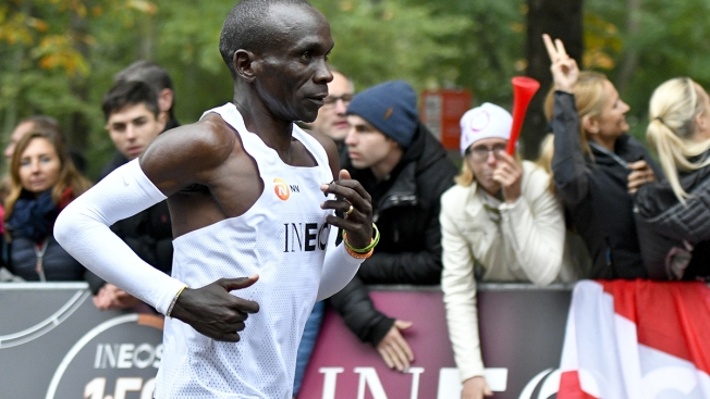 Kenya's Kipchoge First Under 2 Hours for Marathon But No Record