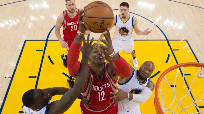 Golden State Warriors Clobber Houston Rockets in Game 1 of First Round of NBA Playoffs at Oracle Arena