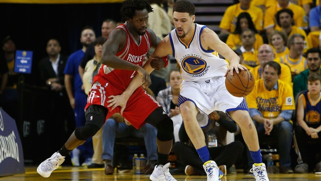 Curry-Less Warriors Beat Rockets 115-106 in Game 2 of NBA Playoffs at Oracle Arena