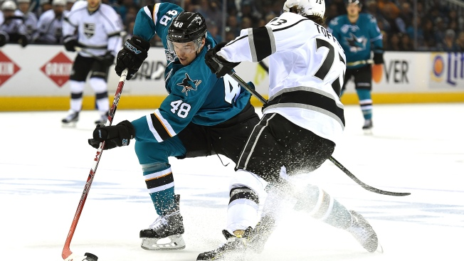 San Jose Sharks Fall to Los Angeles Kings in Game 3 of NHL Playoffs at SAP Center
