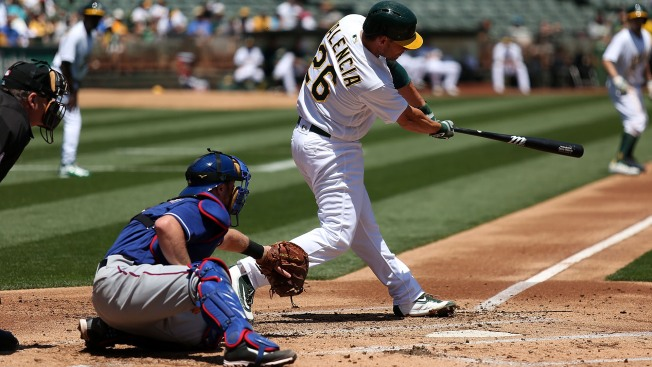 Hill, Davis Lead A's to Sweep of Rangers