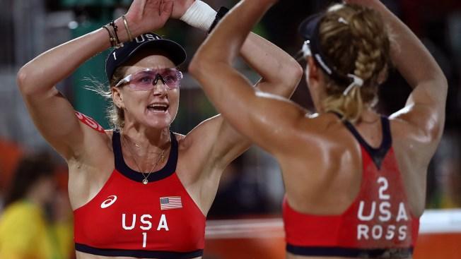 Women's Beach Volleyball: Walsh Jennings, Ross Defeat Aussies