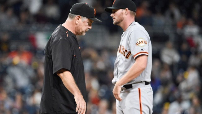 Rough Day for Giants Pitching in Loss to Padres