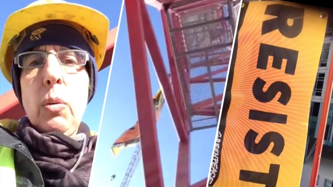Greenpeace Activist From San Francisco Was Not at Book Club, Because She Was Atop a Crane in in Washington, D.C.