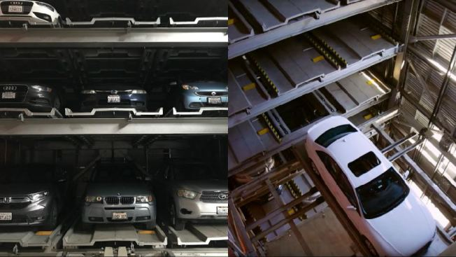 Oakland Company's Automated Parking Structure Designed to Save Space