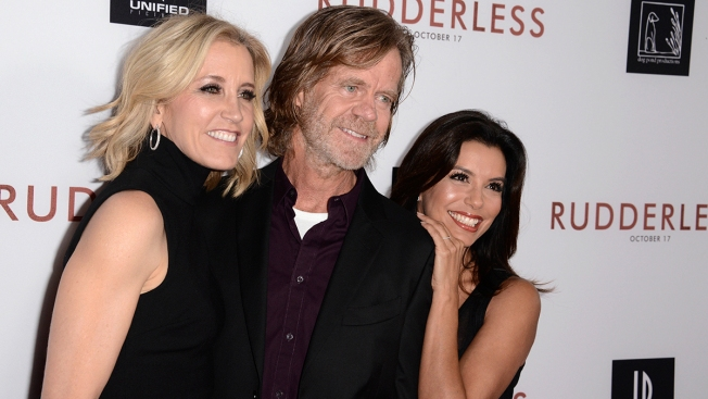 William H. Macy, Eva Longoria Go to Bat for Felicity Huffman