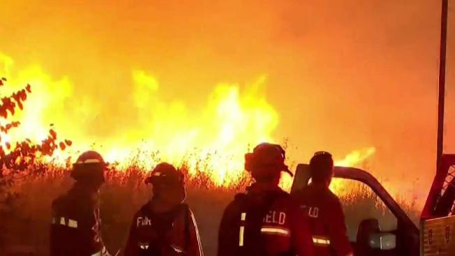 Wind Whipped Nelson Fire Prompts Evacuations In Fairfield Vacaville