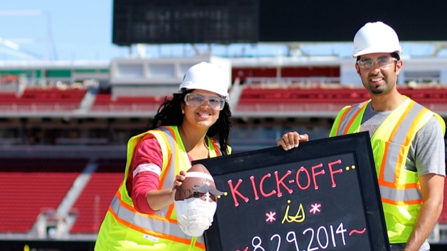 "Couple Goes ""Facebook Official"" with Levi's Stadium Birth Announcement"