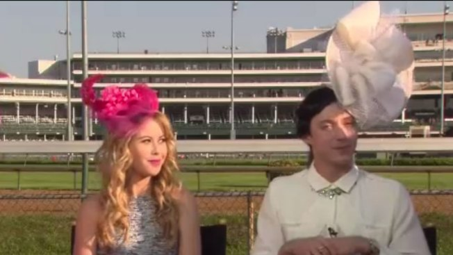 "Johnny Weir Rocks Attention-Grabbing Kentucky Derby Hat on ""Today"""