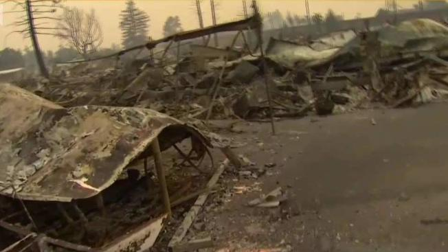 Santa Rosa Trailer Park In Ruins After Wildfire