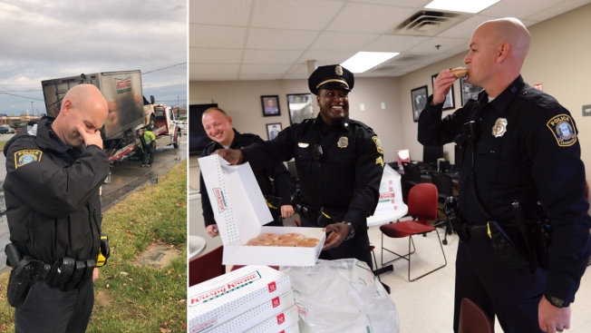 Krispy Kreme Delivers Doughnuts to Officers Over Pastry Loss