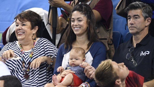Michael Phelps' Baby Boy Steals Spotlight During Dad's Olympic Gold Win