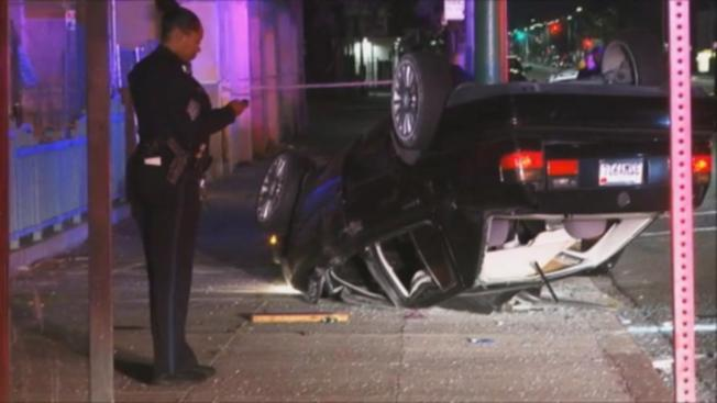 Driver Killed After Oakland Rollover