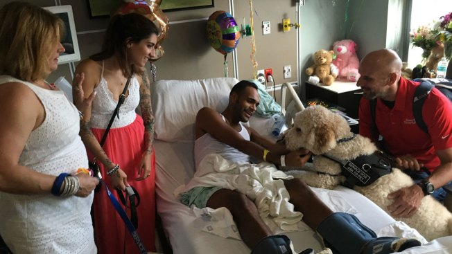 Boston Bombing Survivors Visit With Orlando Massacre Victims