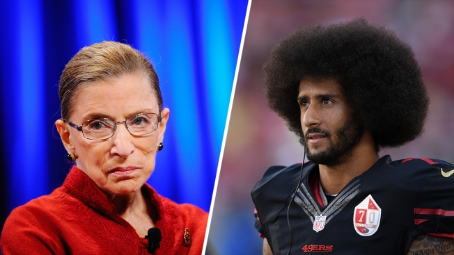49ers Quarterback Colin Kaepernick Calls Ruth Bader Ginsburg's Comments 'Disappointing'