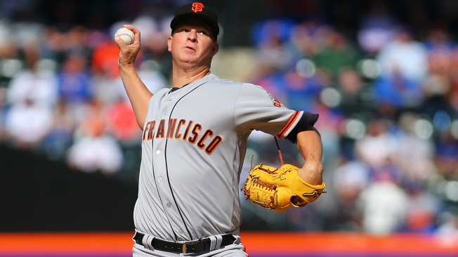 Cain Tagged For Six in Giants' Loss to Mets