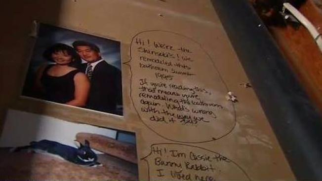 San Jose Couple Remodeling Bathroom Uncovers Hidden Message Left Impressive Bathroom Remodel Bay Area