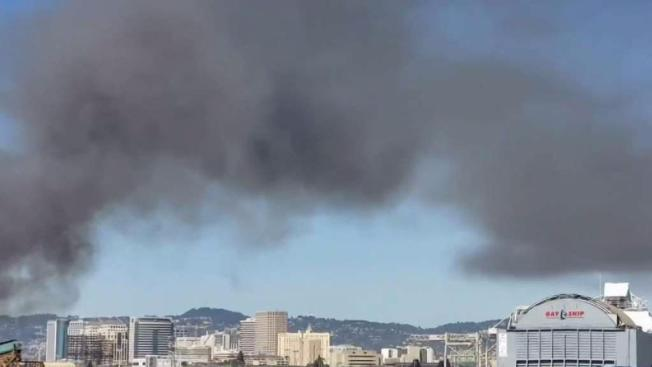 Air Quality Concern In Oakland Following Recycling Plant Fire NBC - Schnitzer metals recycling