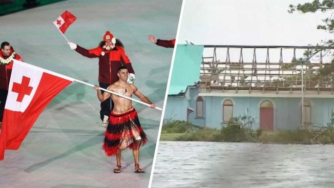 Tonga's Olympic Flag Bearer Thinking of Cyclone-Hit Homeland
