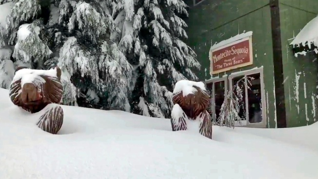 Snowbound Sierra Nevada Lodge Guests Freed