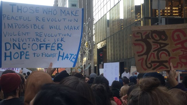 Massive Anti-Trump Protest Floods NYC Streets
