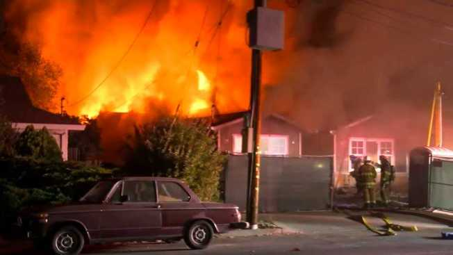 Firefighters Put Out Two-Alarm House Fire in Campbell