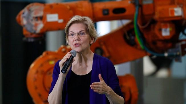 In Michigan, Warren Touts Plan to Boost US Manufacturing
