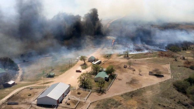 Wildfire Burns About 620 Square Miles in Kansas, Oklahoma