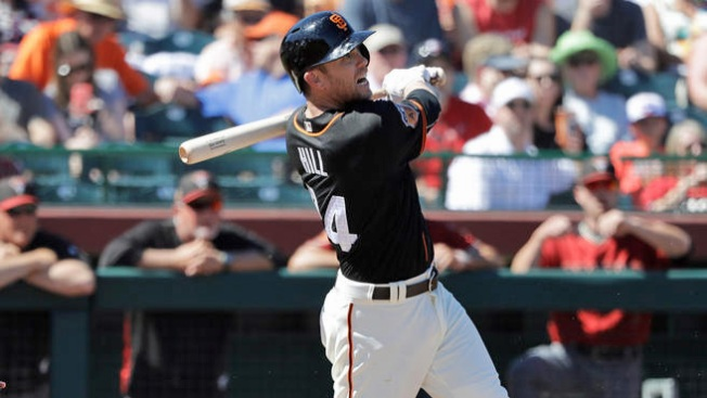 Giants Spring Training: Hill Adds Strong Showing With LF Start