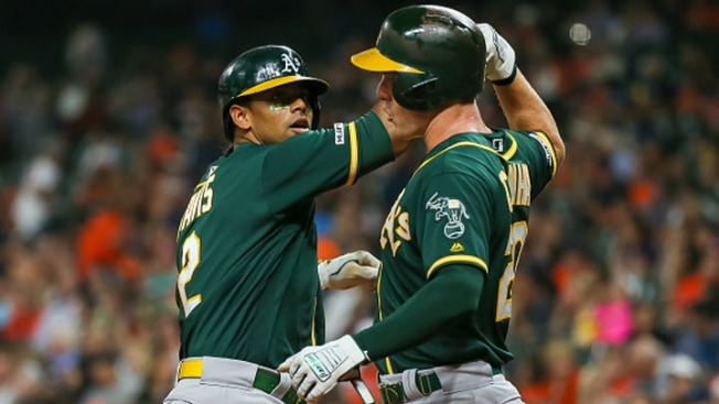 A's Answer With a Bang in 21-7 Win Over Astros