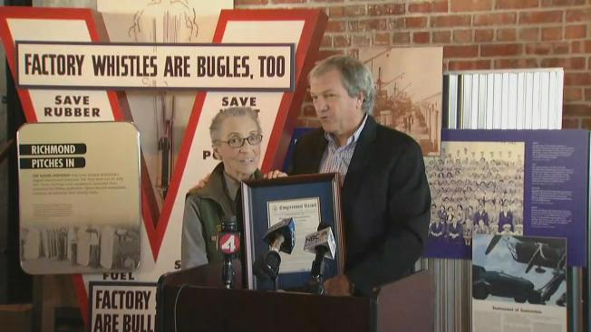 Oldest Park Ranger Receives Congressional Honor at Rosie the Riveter Museum in Richmond, Calif.