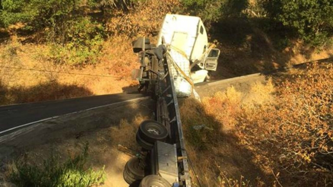 1,500 Gallons of Paint Spilled, Lucas Valley Road in Marin County Closed
