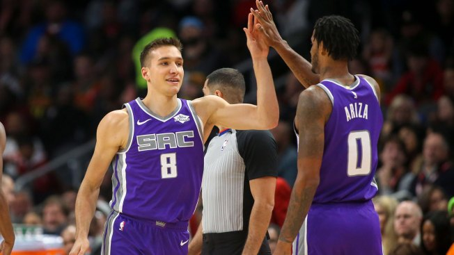 Bogdan Bogdanovic, Second Unit Come Up Big in Kings' Win Over Hawks